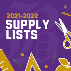 2021-2022 School Supply List Bardstown High School