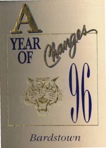 """BHS 1996 yearbook cover """"A year of changes"""""""