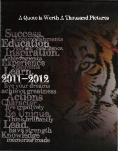"""BHS 2012 yearbook cover """"A Quote is Worth a Thousand Pictures"""""""
