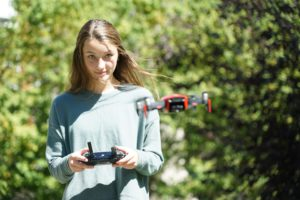Addie Woods Learns To Fly A Drone Through Her Internship